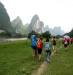 hiking around yangshuo countryside