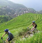 cycling around longji